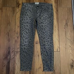 Current Elliott Grey Leopard The Stilletto Skinny
